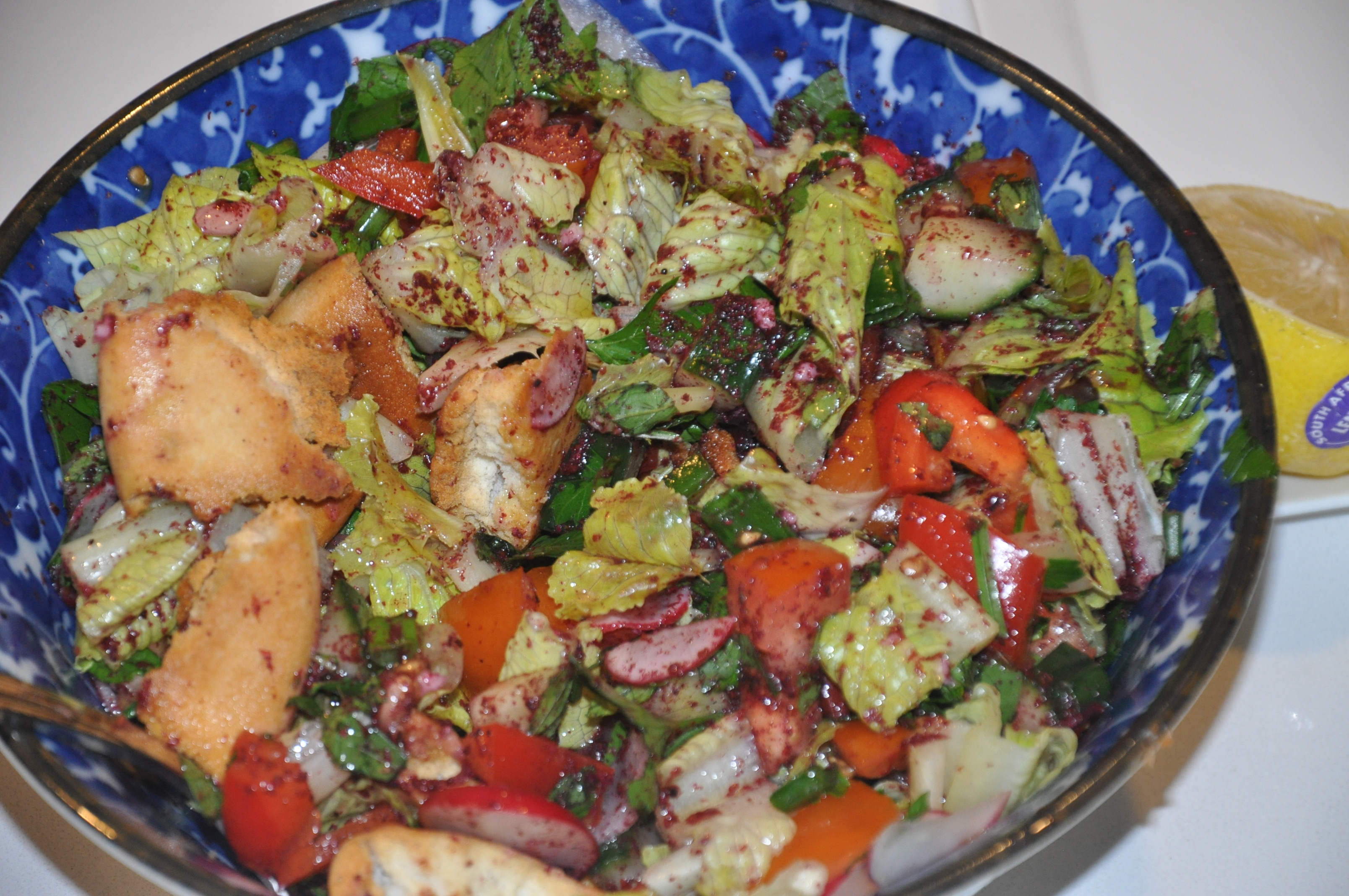 Day #33 – Healthy Lebanese Fattoush Salad (Gluten-free) | 100 Days ...